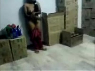 Desi girl Scandal in a office godown by her boss